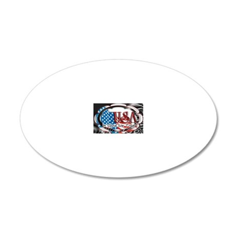 usa in God we trust 002 20x12 Oval Wall Decal
