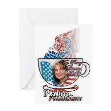 Sarah Palin Tea Party 2012 cup 003 Greeting Card