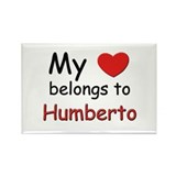 My heart belongs to humberto Rectangle Magnet