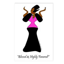 Blessed and Highly Favore Postcards (Package of 8)