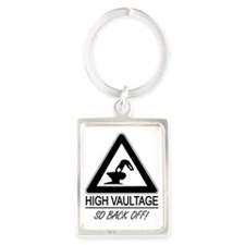 high_vaultage_yellow_bag Portrait Keychain
