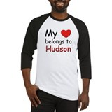 My heart belongs to hudson Baseball Jersey