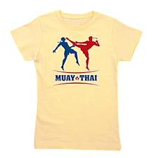muay thai mma kickboxing martial arts Girl's Tee