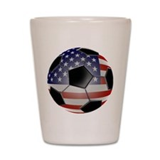 2-ussoccerball Shot Glass