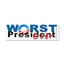 WorstPresident-Bump-White Car Magnet 10 x 3