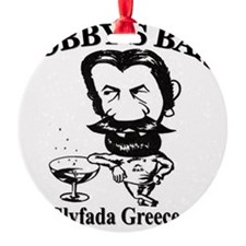 Bobbys-Bar-Logo Round Ornament