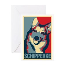 ONE HAPPY SCHIPPERKE Greeting Card