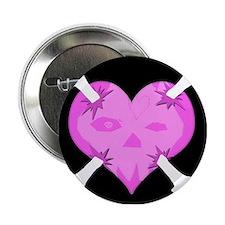 Skull Heart Anti Valentine's Button