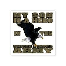 """army hero_son Square Sticker 3"""" x 3"""""""