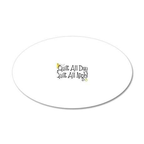 QuiltDayNight2 20x12 Oval Wall Decal