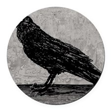 a-raven_new_13-5x18 Round Car Magnet