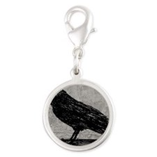 a-raven_new_13-5x18 Silver Round Charm