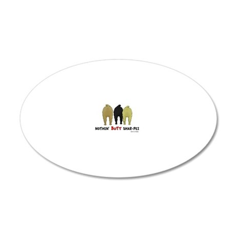 SharPeiMagnet 20x12 Oval Wall Decal
