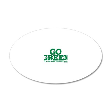 go green2 20x12 Oval Wall Decal