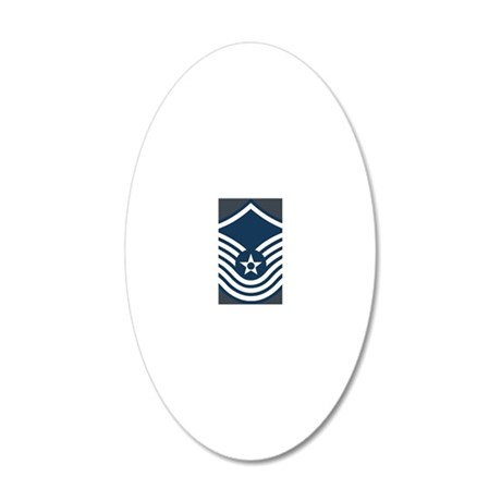 USAF-SMSgt-Old-Magnet-2 20x12 Oval Wall Decal
