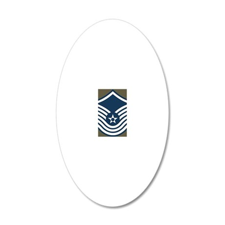 USAF-SMSgt-Old-Magnet-4 20x12 Oval Wall Decal