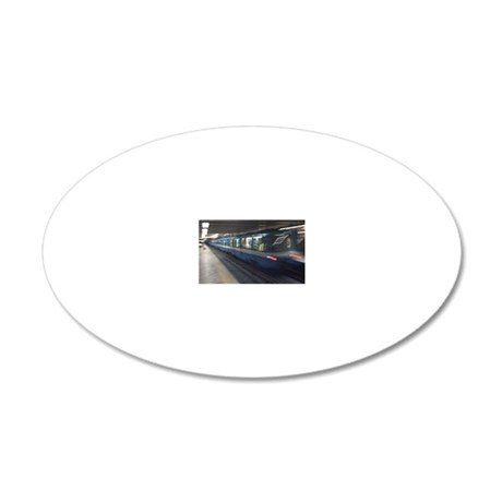 mtl_metro_note 20x12 Oval Wall Decal
