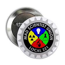 """mad_scientist_union_logo_dark 2.25"""" Button"""