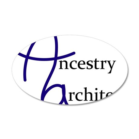Ancestry Architect 35x21 Oval Wall Decal