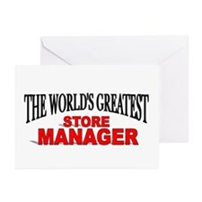 """The World's Greatest Store Manager"" Greeting Card"