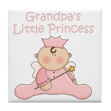 grandpas little princess Tile Coaster