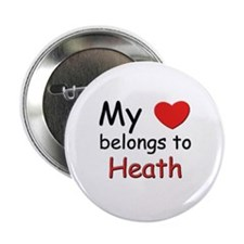 My heart belongs to heath Button