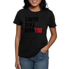 Swim-Bike-Run-Tri Tee