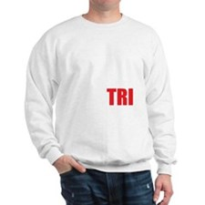Swim-Bike-Run-Tri-WHITE Sweatshirt
