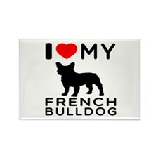 I Love My French Bulldog Rectangle Magnet (10 pack