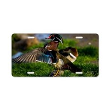 (6) Wood Duck Wing Aluminum License Plate