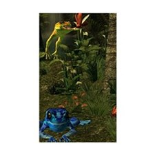 Poison Dart Frog Groave Rectangle Decal