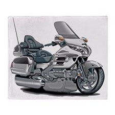 Goldwing White Bike Throw Blanket