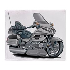 Goldwing Silver Bike Throw Blanket