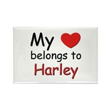 My heart belongs to harley Rectangle Magnet
