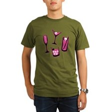 skull-cocktails-pink_ T-Shirt