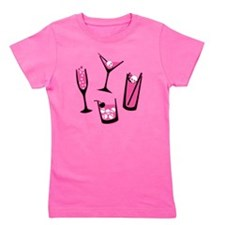 skull-cocktails-pink_tr2 Girl's Tee