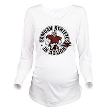 Samoan Atheletes In  Long Sleeve Maternity T-Shirt