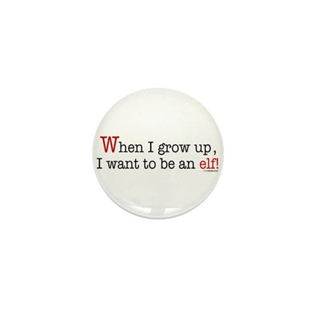 ... an elf Mini Button (100 pack)