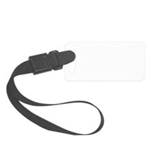 Saxaphone Player White Luggage Tag