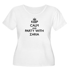 Keep Calm and Party with Zaria Plus Size T-Shirt
