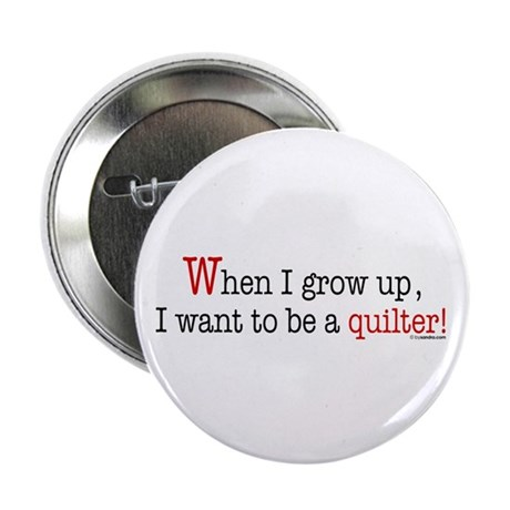 "... a quilter 2.25"" Button (100 pack)"