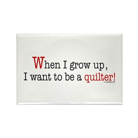 ... a quilter Rectangle Magnet (10 pack)