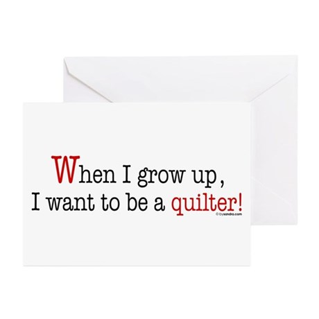 ... a quilter Greeting Cards (Pk of 10)