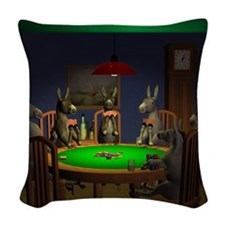 T0038A-DonkeysBestTable-2000x2 Woven Throw Pillow