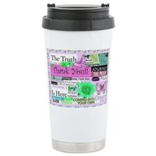 thanks6x4postcircpink Ceramic Travel Mug