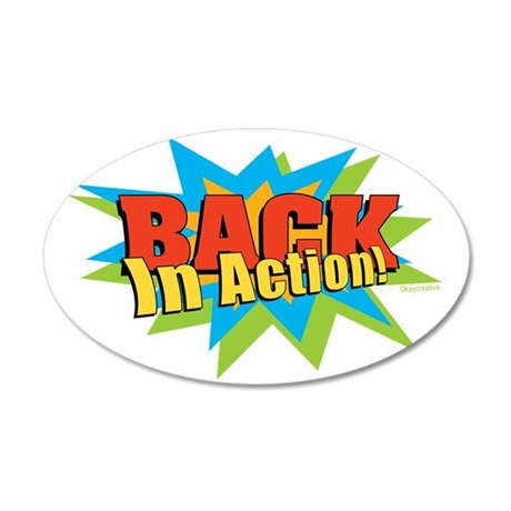 BACKActionSMrev 35x21 Oval Wall Decal