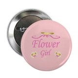Flower Girl Wedding Button