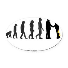evolution_final_2.gif Oval Car Magnet