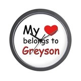 My heart belongs to greyson Wall Clock