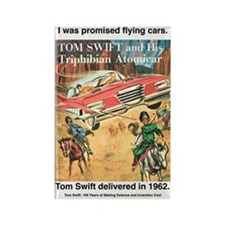 Flying Car Tom Swift Rectangle Magnet